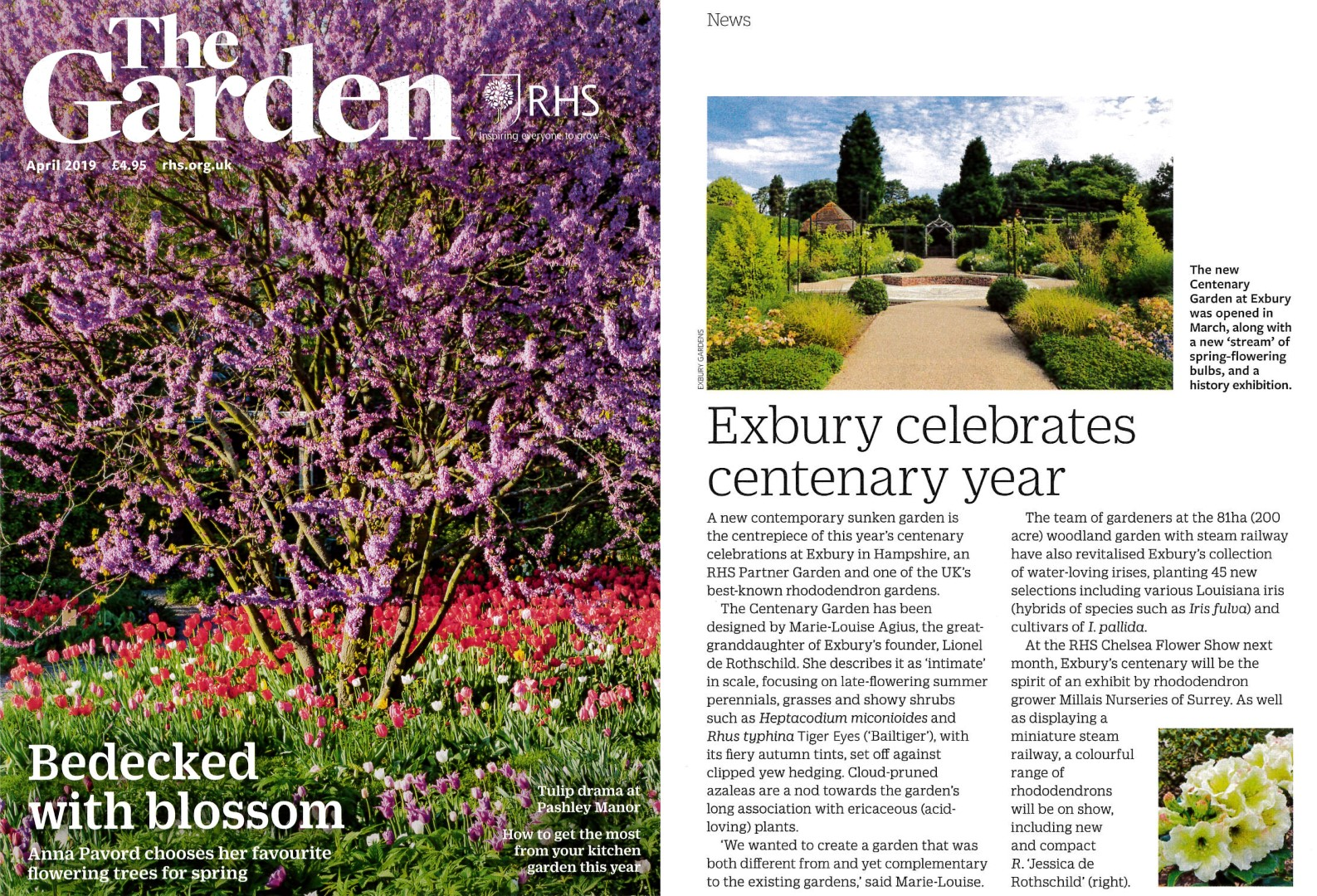 Scan of the garden april 2019 article